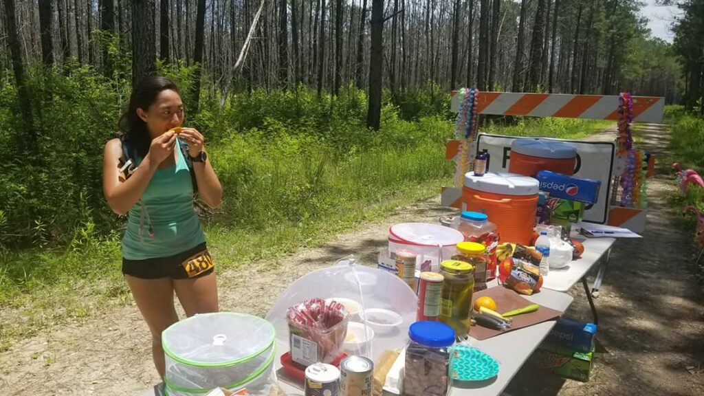 2018 Oasis aid station at Hell Hole Hundred