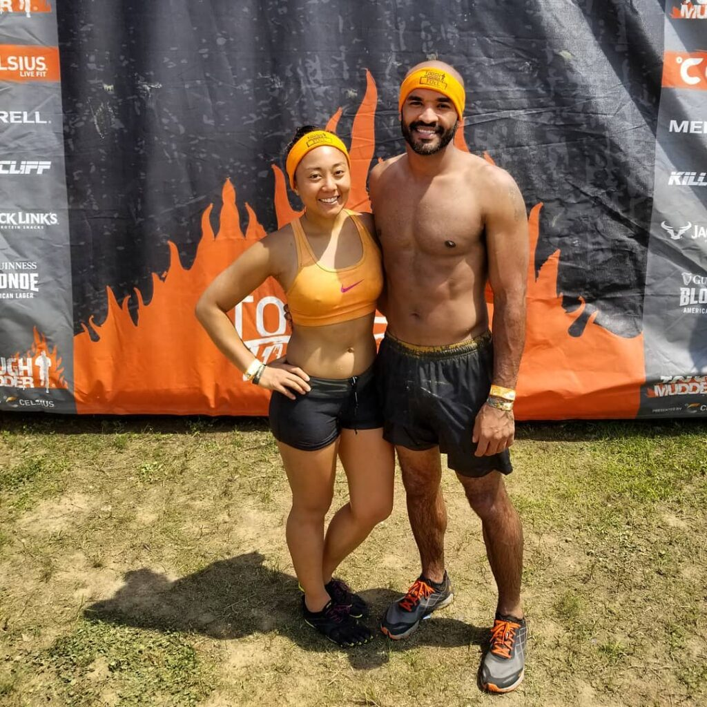 Earned our Orange Headbands at 2018 Virginia Tough Mudder