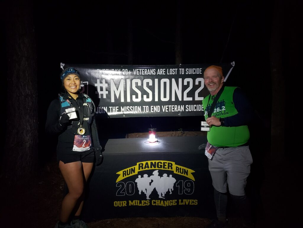 Karen Reed and George Wannop - 2019 Run the Rock Endurance Challenge Finishers